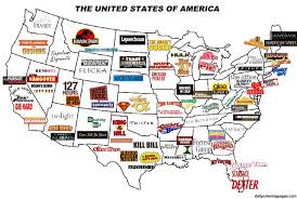 States Of America Map by The United States Of America U2013 Movie Map Now That U0027s Merican