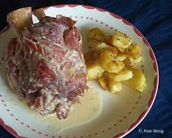 cuisiner un jambonneau jambonneau sauce moutarde cookeo la cuisine toute simple de mamita
