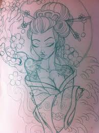 japanese geisha sketch by 5stardesigns on deviantart