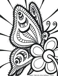 abstract coloring page drawing hard mandala pages printable easy