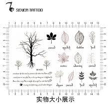 2pc lot trees leaf cool small tattoos sticker waterproof tatoo