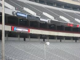 Stadium Chairs With Backs Sanford Stadium Georgia Seating Guide Rateyourseats Com