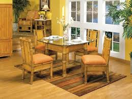 bamboo dining room table natural bamboo dining set from rattan specialties and worldwide