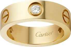 cartier love rings images Crb4032400 love ring 3 diamonds yellow gold diamonds cartier png