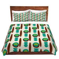 Midcentury Modern Bedding - mid century modern duvet covers and shams bedroom dianoche