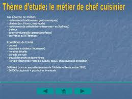 salaire chef cuisine entreprise restaurant le chalet ppt télécharger