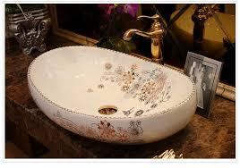Oval Bathroom Sinks Aliexpress Com Buy Oval Bathroom Cloakroom Europe Vintage Style