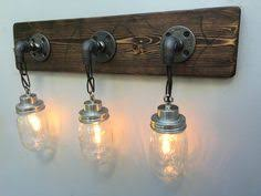 vanity light fixture 3 country style mason jar light wall our