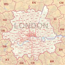 Zip Code Finder Map by London Postal District Wikipedia