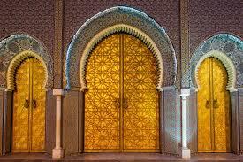 the royal palace gate medina of fez 000025362029 double jpg
