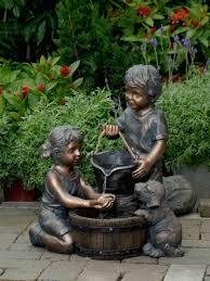 decorating your garden with children statues wearefound home design