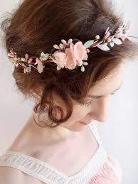 floral hair accessories mint hair floral crown mint flower circlet blush pink
