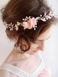 bridesmaid hair accessories mint hair floral crown mint flower circlet blush pink