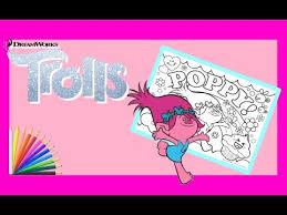 Coloriage pour Enfants Trolls Princesse Poppy Coloring Page for Kids