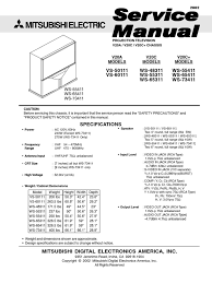 service manual mitsubishi projection tv chassis v20a c c