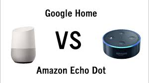 amazon home google home vs amazon echo dot side by side comparison youtube