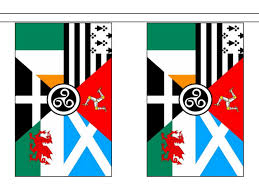 International Bunting Flags Pan Celtic Nations Flag 6m Bunting