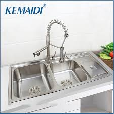 double sinks kitchen kwmaidi stainless steel kitchen sink vessel set with faucet double