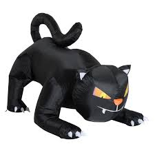 aosom homcom 6 u0027 halloween giant creeping black cat led lighted