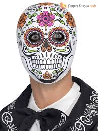 mexican day of the dead masks halloween fancy dress costume