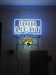 bud light neon signs for sale bud light jacksonville jaguars neon sign nfl teams neon light real