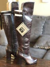 womens brown leather boots size 9 frye the knee brown leather boots womens size 9 ebay