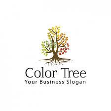 color tree logo vector free