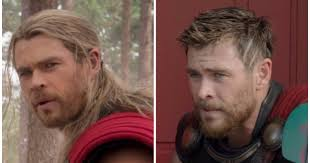 thor film quotes thor ragnarok what s with the short hair on chris hemsworth