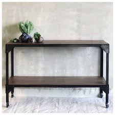 black console table with storage black metal frame rectangle console table with solid wood storage
