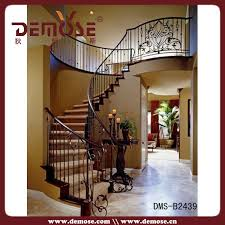 Iron Handrail For Stairs Decorative Wrought Iron Indoor Stair Railings Decorative Wrought