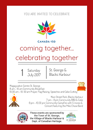 you are invited to celebrate canada day st george and black u0027s harbour charlotte coastal