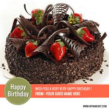 wish you a very happy birthday chocolate cake with name wishes