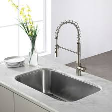16 Gauge Kitchen Sink by Kraus 31 Inch Undermount Single Bowl 16 Gauge Stainless Steel