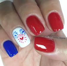 loving these nails for summer or just feeling patriotic nails
