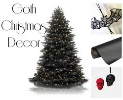 the everyday goth gothic christmas decor