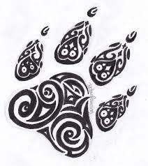tribal paw print tattoo tattoo pinterest paw print tattoos