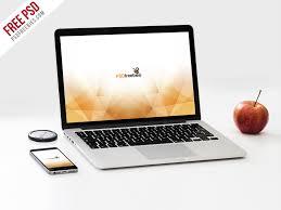macbook pro and phone mockup template psd mockup free macbook