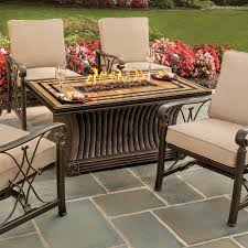Rectangle Fire Pit Table Agio Tuscan Gas Fire Pit