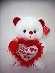 s day teddy 10 musical white plush teddy w happy s day on