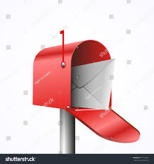 Mailbox Flag 3d Illustration Opened Red Mailbox Envelope Stock Vector 515113435