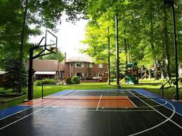 Backyard Sports Court by How Fun Is This I Want An Outdoor Sport Court So Bad