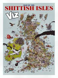 Map Of Britian Offensive Map Of Britain By British Satirical Magazine
