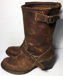womens brown boots size 9 freebird by steven leather motorcycle size 9 brown boots on