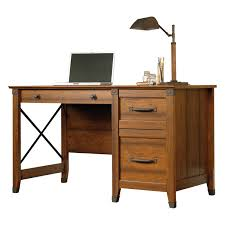 Sauder Office Desk Sauder Carson Forge Desk Washington Cherry Hayneedle