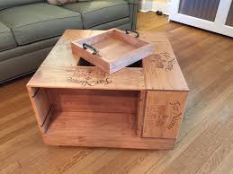 How To Make Wine Crate Coffee Table - coffee table coffee table wine crate vintage diywine planswine