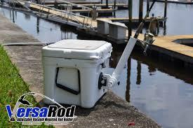 backyard accessories versarod adjustable vacuum mounted fishing rod holder aughog