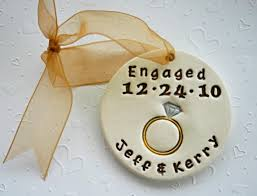 personalized engagement ornament or put the wedding date and pass