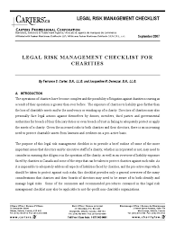 charity audit checklist charitable organization lease