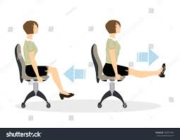Office Chair Workout Sport Exercises Office Office Yoga Tired Stock Illustration