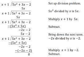 divide polynomials college algebra
